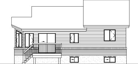House Plan 52465 Rear Elevation