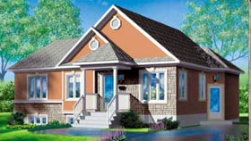 House Plan 52466 Elevation