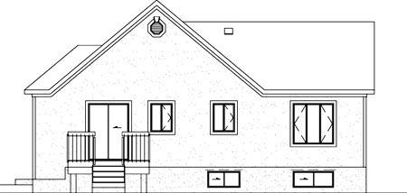 House Plan 52466 Rear Elevation