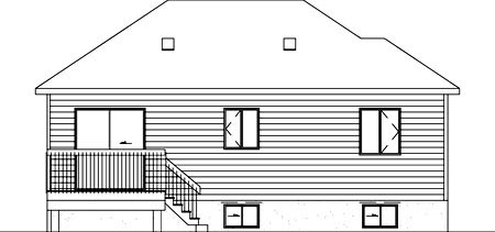 House Plan 52467 Rear Elevation