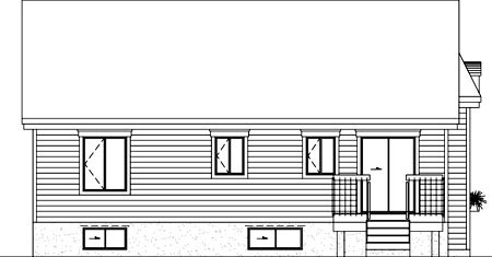 House Plan 52468 Rear Elevation