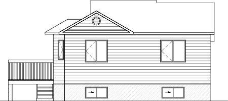 House Plan 52471 Rear Elevation