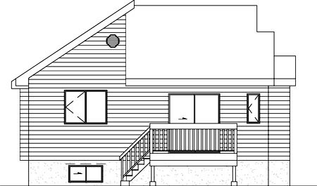 House Plan 52474 Rear Elevation