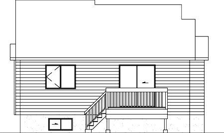 House Plan 52475 Rear Elevation