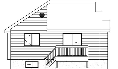 House Plan 52476 Rear Elevation