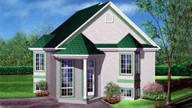 House Plan 52477 Elevation