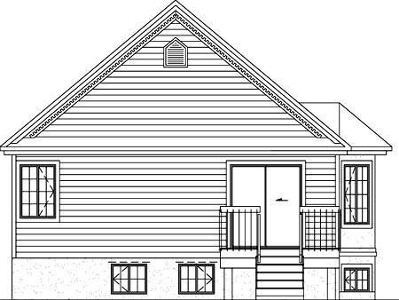 House Plan 52477 Rear Elevation