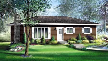 House Plan 52480 Elevation