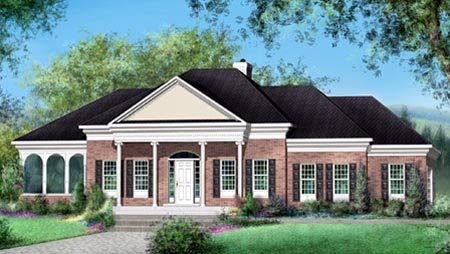 House Plan 52481 Elevation