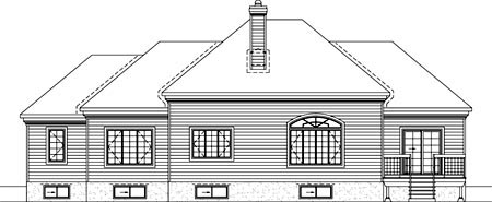 House Plan 52481 Rear Elevation
