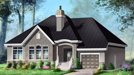 House Plan 52485 Elevation