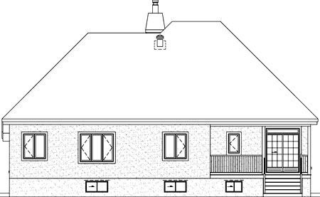 House Plan 52485 Rear Elevation