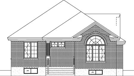House Plan 52486 Rear Elevation
