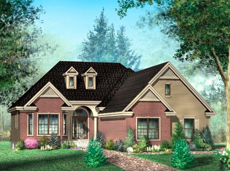 House Plan 52487 Elevation