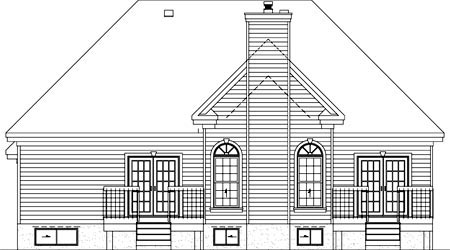 House Plan 52487 Rear Elevation