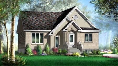 House Plan 52488 Elevation