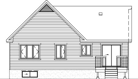 House Plan 52488 Rear Elevation