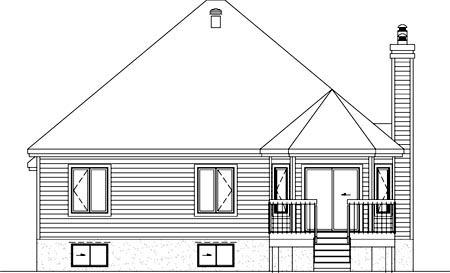 House Plan 52489 Rear Elevation