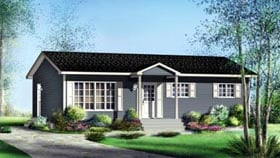 House Plan 52490 Elevation