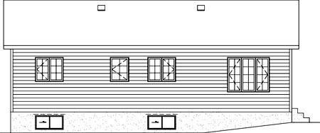 House Plan 52490 Rear Elevation
