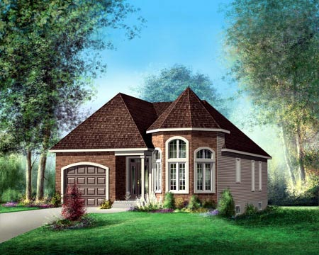 House Plan 52492 Elevation
