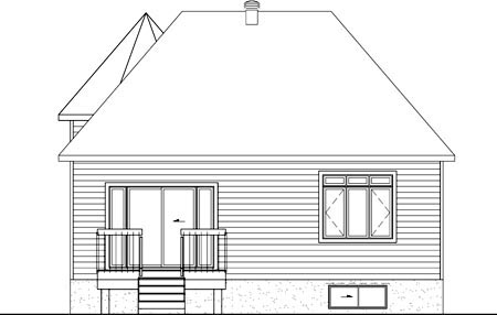 House Plan 52492 Rear Elevation