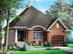 House Plan 52496 Elevation