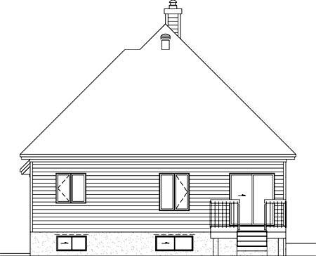 House Plan 52496 Rear Elevation