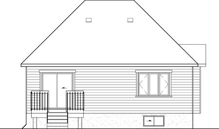 House Plan 52497 Rear Elevation