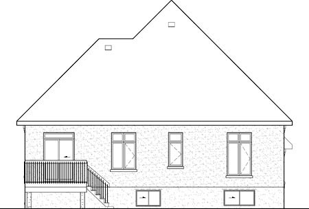 House Plan 52498 Rear Elevation