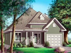House Plan 52500 Elevation