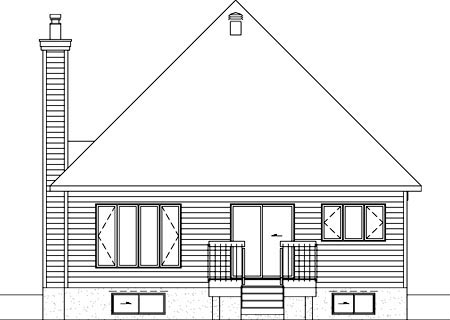 House Plan 52500 Rear Elevation