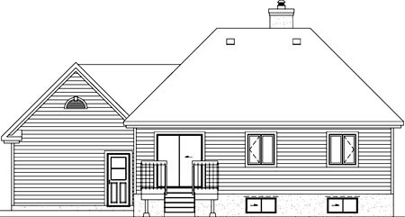 House Plan 52502 Rear Elevation