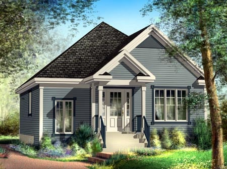 House Plan 52504 Elevation