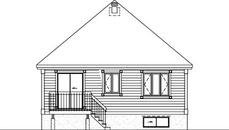 House Plan 52504 Rear Elevation