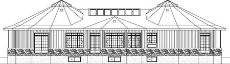 House Plan 52505 Rear Elevation