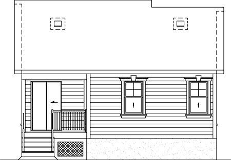 House Plan 52506 Rear Elevation