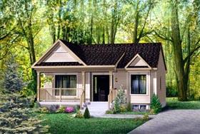 House Plan 52508 Elevation
