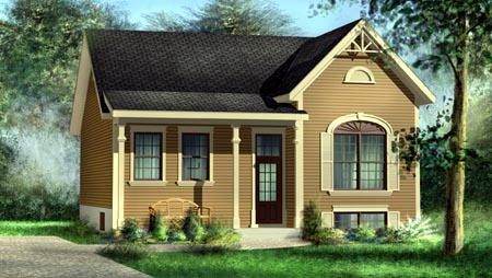 House Plan 52509 Elevation