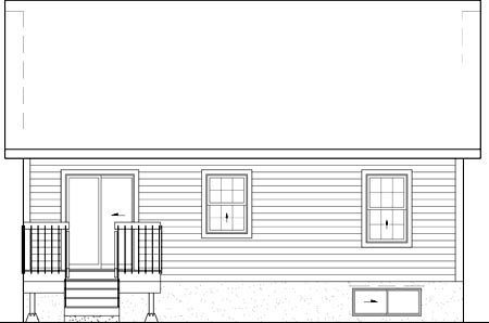 House Plan 52509 Rear Elevation
