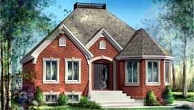 House Plan 52510 | Style Plan with 1154 Sq Ft, 2 Bedrooms, 1 Bathrooms Elevation
