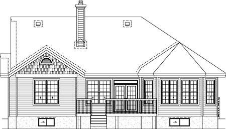 House Plan 52511 Rear Elevation