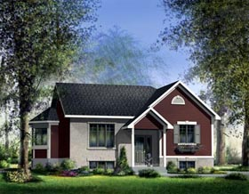 House Plan 52512 Elevation