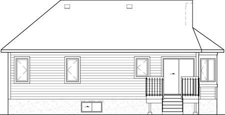 House Plan 52512 Rear Elevation