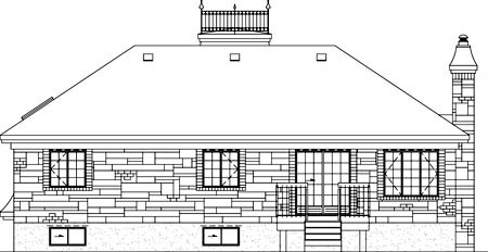 House Plan 52513 Rear Elevation