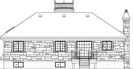 House Plan 52514 Rear Elevation