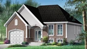 House Plan 52516 with 2 Beds, 1 Baths, 1 Car Garage Elevation