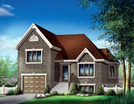 House Plan 52518 with 2 Beds, 2 Baths, 1 Car Garage Elevation