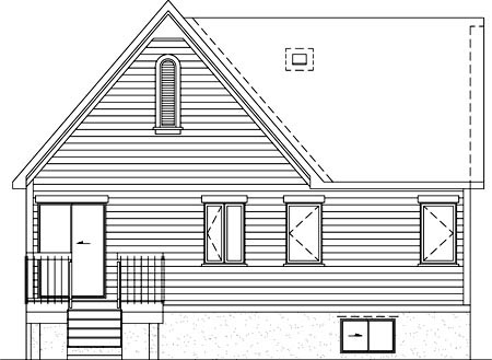 House Plan 52520 Rear Elevation