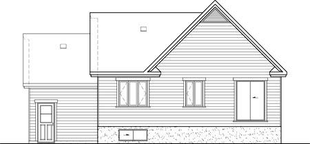 House Plan 52521 Rear Elevation